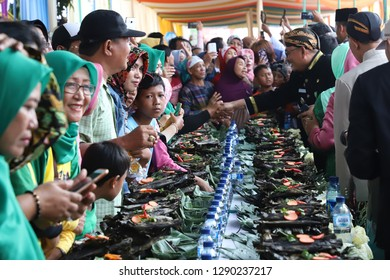 The Muri Record Breaking Event For the 17650 Pepes Ikan Pindang on April 22, 2018 in Batang, Central Java, Indonesia