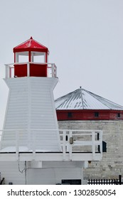 Murney tower and lighthouse.  Kingston. Ontario. Canada.