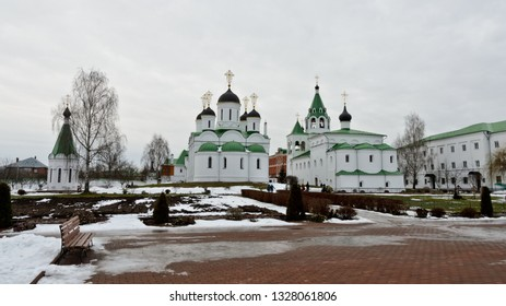 Murom, Russia - January 4, 2018: Savior Transfiguration Monastery