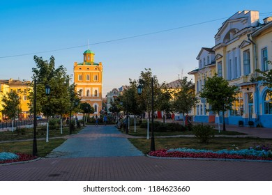 Murom, Russia - September, 20, 2018: street in a center of Murom, Russia