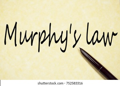 murphy's law text write on paper