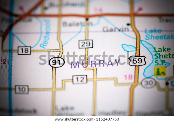 Murray. Minnesota. USA on a map