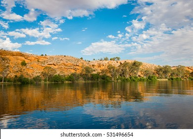 Murray River cliffs scenic waterfront view at Walker Flat