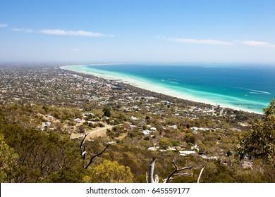 Murray's Lookout on Arthurs Seat Tourist Rd looking over Mornington Peninsula, Victoria, Australia