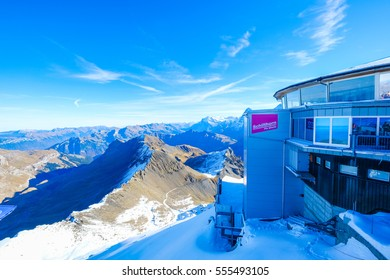 Murren, Switzerland - October 28, 2016 : Landscape View from the Schilthorn Piz Gloria