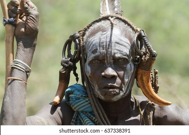 Mursi women in the Omo Valley of Ethiopia