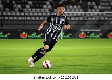 MURSKA SOBOTA, SLOVENIA - July 13, 2021: Mihael Klepač of NS Mura vs KF Shkëndija during the UEFA Champions League first qualifying round, 2nd leg match