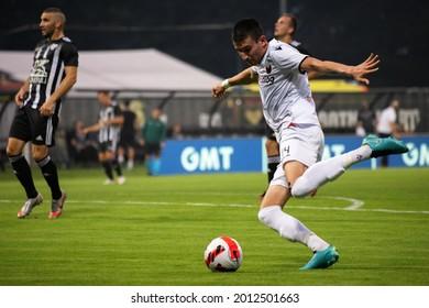 MURSKA SOBOTA, SLOVENIA - July 13, 2021: Ljupche Doriev of KF Shkëndija vs NS Mura  during the UEFA Champions League first qualifying round, 2nd leg match