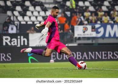 MURSKA SOBOTA, SLOVENIA - July 13, 2021: Matko Obradović of NS Mura vs KF Shkëndija during the UEFA Champions League first qualifying round, 2nd leg match