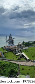 murudeshwar temple with it's beautiful scenerio of beach with green lushes and monuments and lord shiva  - Shutterstock ID 1978226711