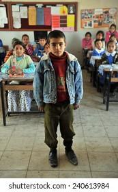 MUS, TURKEY - APRIL 21: Unidentified Turkish children Turkey  Government School on April 21, 2011 in Mus, Turkey
