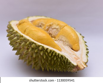the MUSANG KING Durian fruit isolated on white background