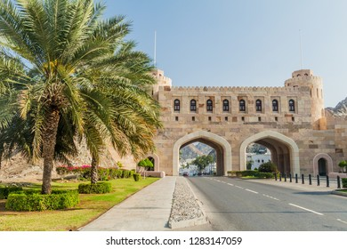 Muscat Gate, gateway to Old Muscat, Oman