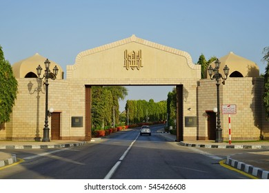 MUSCAT, OMAN -21 DEC 2016- Built for the meeting of the Gulf Cooperation Council, the luxury hotel Al Bustan Palace is now managed by Ritz Carlton. It is located on a sandy beach of the Sea of Oman.