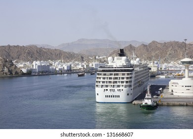 MUSCAT, OMAN - APRIL 14: Cruise arrived at the port of Muscat with tourists to visit the capital on April 14, 2010 in Muscat, Oman.