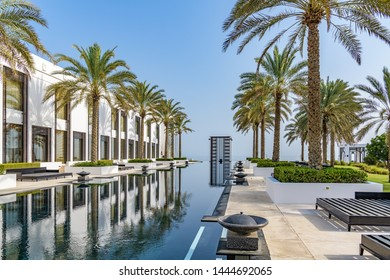 Muscat, Oman - August 17, 2018: The Chedi Muscat in Muscat, Oman.