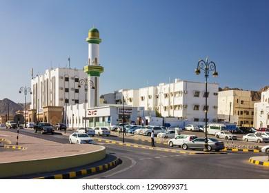 Muscat, Oman - Jan 19, 2019: Muscat mosque view.