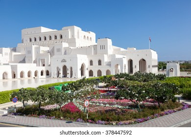 MUSCAT, OMAN - NOV 28, 2015: The Royal Opera House (ROHM) in the city of Muscat. Sultanate of Oman, Middle East