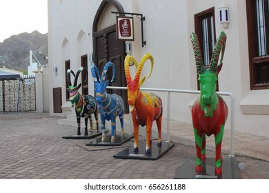 MUSCAT, OMAN - OCTOBER 24 2013:Bait Al Zubair (House of Al Zubair) is a private museum