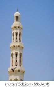 Muscat - Oman, Sultan Qaboos Grand Mosque - Minaret detail