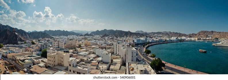 Muscat panoramic view from above