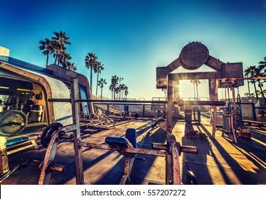 Muscle Beach in Los Angeles, California