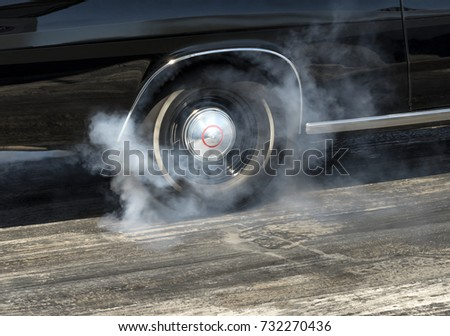 Muscle Car Burnout Stock Photo Edit Now 732270436 Shutterstock