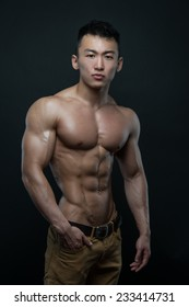 Muscled korean male model