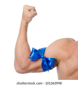 muscles as a gift. isolated on white background