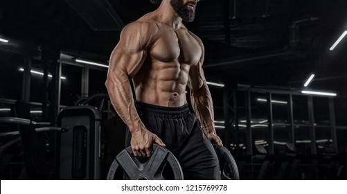 muscles of the hands, makes the lifting of dumbbells.