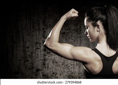 Muscular body with perfect abs/Strong woman