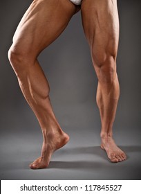 Muscular male legs