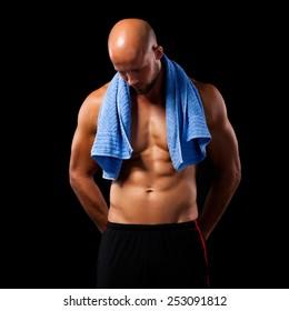 muscular man after workout