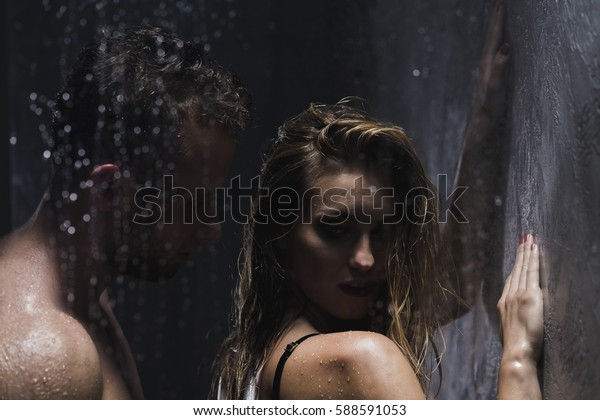 Making love shower nude