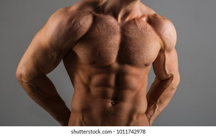 Muscular man, male naked, torso man. Sport man, bodybuilding, fitness. Muscular body, naked torso. Guy with beautiful torso. Sexy man, athletic caucasian. Bodybuilder and bodybuilding, ab, six pack.