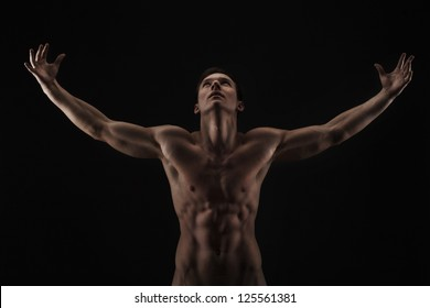 muscle man back images stock photos vectors shutterstock