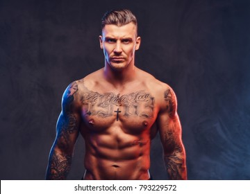 Male Model Tattooed Images Stock Photos Vectors