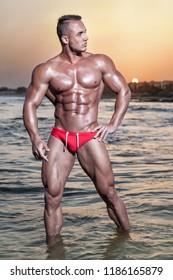 Boner at nudist beach