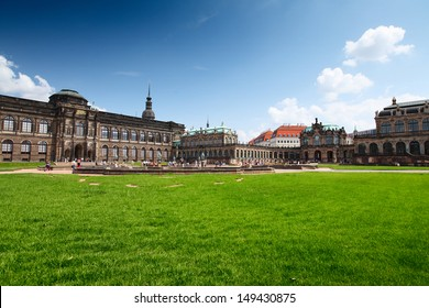 Museum buildings (Zwinger) in Dresden in a sunny day, Germany