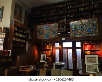 Museum of Fine Arts, Algiers, Algeria - February 25, 2017: Library inside the museum.