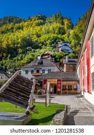 Museum in Hallstatt on Lake Hallstatt, UNESCO World Heritage Site, Salzkammergut, Alps, Upper Austria, Austria, Europe, 13. October 2016