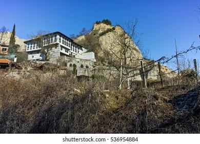 Museum The Kordopulov House and The sand pyramids in Melnik town, Blagoevgrad region, Bulgaria