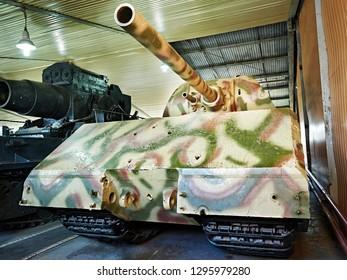 MUSEUM KUBINKA, MOSCOW REGION, RUSSIA - Aug 23, 2014: German super-heavy tank Panzerkampfwagen VIII Maus. 1944