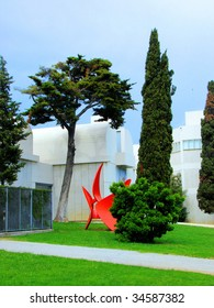 museum of modern art, Joan Miro Fondation, Barcelona, Catalonia, Spain