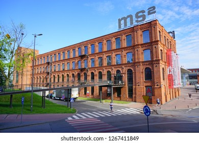 MUSEUM MS2, LODZ, POLAND, JUNE 09 2017 :Inner square of Manufaktura, an arts centre, shopping mall, and leisure complex in Lodz, Poland.Museum of the City of Lodz