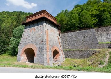 Museum Old ironmill close town Adamov in Czech republic