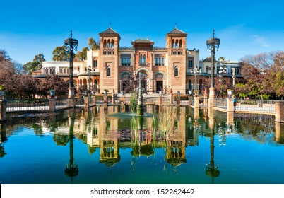Museum of Popular Arts, Mudejar pavilion located in the Maria Luisa park in Seville, Andalucia, Spain