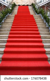 Museum of the red carpet on the stairs