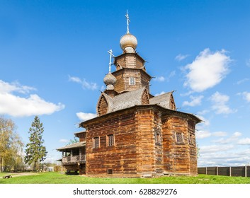 Museum of wooden architecture in Suzdal, Russia.