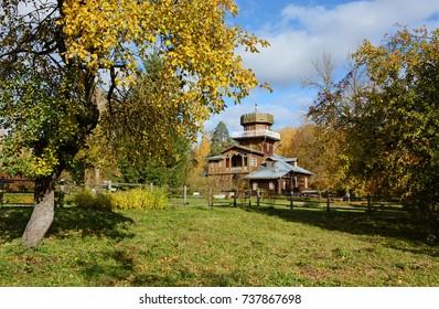 "Museum-estate of Ilya Repin ""Zdravnevo"", Vitebsk, Belarus. Golden autumn in the manor Repin"